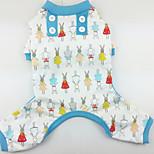 Собака Пижамы Одежда для собак На каждый день Носки детские Красный Зеленый Синий