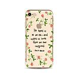 Чехол для iphone 7 плюс 7 крышка прозрачный узор задняя крышка чехол слово / фраза цветок мягкий tpu для iphone 6s плюс 6 плюс 6s 6 se 5s