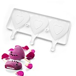 3 Cavities  Heart-shaped Popsicle mold  M-55