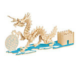 Пазлы Набор для творчества 3D пазлы Строительные блоки Игрушки своими руками Другое Натуральное дерево