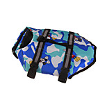 Dog Life Vest Dog Clothes Sports Cartoon Blue Green Ruby Gray
