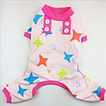 Собака Пижамы Одежда для собак На каждый день Звезды Зеленый Синий Розовый