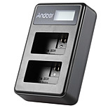 Andoer® np-fw50 перезаряжаемый светодиодный дисплей литий-ионный аккумулятор зарядное устройство 2-слотовый USB-кабель комплект для sony