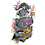 Temporary Tattoos Chest Leg Totem Series 3D Waterproof Tattoos Stickers Non Toxic Glitter Large Fake Tattoo Body Jewelry  Halloween Gift 22*15cm