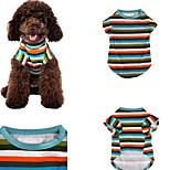 Собака Футболка Одежда для собак На каждый день Полоски Радужный