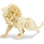 Пазлы Набор для творчества 3D пазлы Металлические пазлы Строительные блоки Игрушки своими руками Животный принт Натуральное дерево