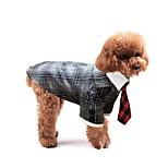 Собака смокинг Одежда для собак Свадьба Английский Черный Серый Цвет-леопард