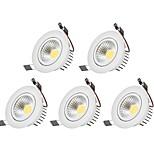 LED даунлайт Тёплый белый Холодный белый Светодиодная лампа 5 шт.