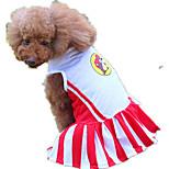 Собака Платья Одежда для собак На каждый день Полоски Красный