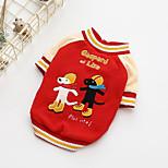 Собака Толстовка Одежда для собак На каждый день Рождество Носки детские Красный Синий