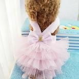 Кошка Собака Платья смокинг Одежда для собак Для вечеринки На каждый день Свадьба Полоски Красный Зеленый Синий Розовый