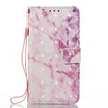 A samsung galaxy a3 (2017) a5 (2017) vászonburkolat rózsaszín márvány minta 3d festett kártya stent pénztárca telefonos tok galaxis a3