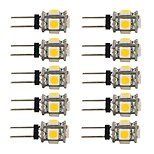 1.5W LED Bi-pin Lights G4 5SMD 5050 90lm DC12V White Warm White 2700-7000 Decorative 10pcs