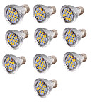 YouOKLight 10pcs E27 6W 700lm AC85-265V 15*SMD 5730  LED Warm White 3000K Sportlight Bulb-Silver