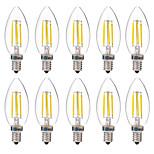 4W Żarówka dekoracyjna LED C35 4 COB 350 lm Ciepła biel Biały Dekoracyjna AC 220-240 V 10 sztuk