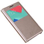 Taske til samsung galaxy a3 (2017) a5 (2017) cover med vinduer flip hele kropscase solid farve hard pu læder til Samsung Galaxy A7 (2017)