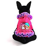 Hund Kleider Hundekleidung Lässig/Alltäglich Prinzessin Purpur Rosa