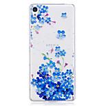 Case voor Sony xperia m2 xa behuizing blauw bloemen patroon geschilderd hoge penetratie tpu materiaal imd proces zachte case telefoon