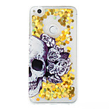 For Huawei P9 Lite P8 Lite Case Cover Skull Pattern Flash Powder Quicksand TPU Material Phone Case P8 Lite (2017)