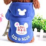 Собака Толстовка Одежда для собак На каждый день Носки детские Черный Синий Розовый Черный/Красный Синий /Красный