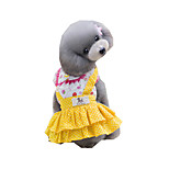 Dog Dress Dog Clothes Casual/Daily Princess Blue Yellow
