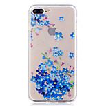 Чехол для яблока iphone 7 7 плюс чехол чехол синие цветы узор окрашены высокое проникновение tpu материал imd процесс мягкий чехол телефон