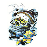 Temporary Tattoos Ankle Ankle White Series 3D Waterproof Tattoos Stickers Non Toxic Glitter Large Fake Tattoo Body Jewelry  Halloween Gift 22*15cm