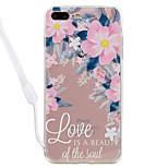 Dla jabłko iphone 7 7 plus pokrowiec kwiatowy wzór wysoki przepuszczalność akrylowy backplane tpu ramka malowany relief telefon skrzynka