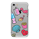 Case voor iphone 7 plus iphone 6 cartoon patroon telefoon zachte shell voor iphone 7 iphone 6 / 6s plus iphone 6 / 6s iphone5 5s se
