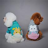 Собака Толстовка Одежда для собак Сохраняет тепло Животные Серый Зеленый Светло-синий