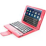 Назначение Чехлы панели со стендом с клавиатурой Флип Чехол Кейс для Сплошной цвет Твердый Искусственная кожа для AppleiPad Mini 4 iPad