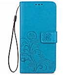 Case For Huawei P10 Plus P10 Case Cover Card Holder Wallet with Stand Flip Embossed Full Body Case Solid Color Flower Hard PU Leather for P10 Lite