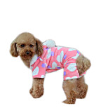 Dog Coat Dog Clothes Casual/Daily Keep Warm Geometric Blushing Pink