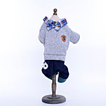 Dog Clothes/Jumpsuit Dog Clothes Casual/Daily Cowboy Solid Ruby Gray