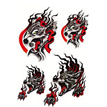 6pcs/Set Temporary Tattoos Chest Body Animal Series 3D Waterproof Tattoos Stickers Non Toxic Glitter Large Fake Tattoo Body   Halloween Gift 22*15cm