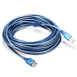 USB 2.0 Adapter Cable, USB 2.0 to USB 2.0 Adapter Cable Male - Male 10.0m(30Ft)