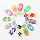 New 10pcs Rose Red Clover Nail Art Resin Flower Manicure Decoration For 3D Nail Art Beauty Tips