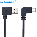 USB 3.0 Cable, USB 3.0 to USB 3.0 Type C Cable Male - Male 1.0m(3Ft)