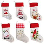 Новый год рождественские чулки носки santa claus конфеты подарочный пакет xmas дерево висит украшение украшение (стиль случайный)