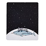 Miss Little Star Whale Art Fresh Illustration Mouse Pad Natural Rubber Cloth 20 * 23.8