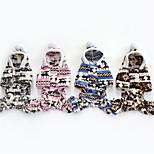 Собака Толстовки Комбинезоны Одежда для собак На каждый день Новогодняя тематика Серый Коричневый Синий Розовый