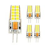 3W Slime Silicone Bulb G4 Led Light 20 SMD 2835 AC/DC 12V for Chandelier Instead of Halogen 280 lm Warm/Cool White (5 pcs)
