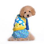 Собака Комбинезоны Одежда для собак На каждый день Носки детские Пурпурный Синий