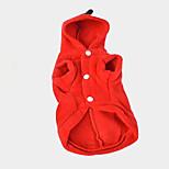 Собака Плащи Одежда для собак На каждый день Сплошной цвет Красный Зеленый