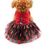Кошка Собака Платья смокинг Одежда для собак Для вечеринки На каждый день Свадьба Животные Желтый Красный Розовый