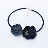Women's Choker Necklaces Flower leather Euramerican Fashion Bohemian Jewelry 1pc