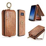Taske til samsung galaxy s8 plus s8 taske luksus retro multifunktionel 2 i 1 anden lag læder tegnebog taske magnet bagcover s7 kant