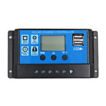 24v 12v auto zonnepaneel batterij oplader controller 30a pwm lcd display zonnecollector regulator met dual usb uitgang