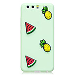 Case For Huawei P10 P10 Plus Case Cover Watermelon Pineapple Pattern Fruit Color TPU Material DIY Phone Case