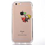 Чехол для iphone 7 6, играющий с яблоком logo tpu мягкая ультратонкая задняя крышка чехол для iphone 7 плюс 6 6s плюс se 5s 5 5c 4s 4